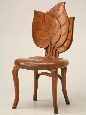 Hand carved chair 1