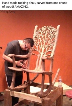 Hand carved chair 2