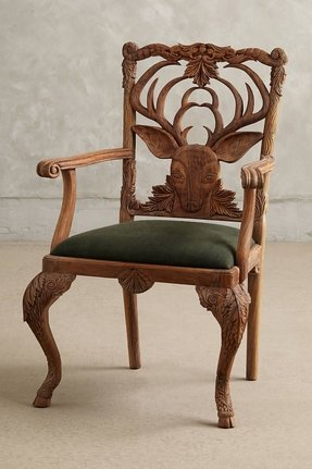 Hand carved chair 5