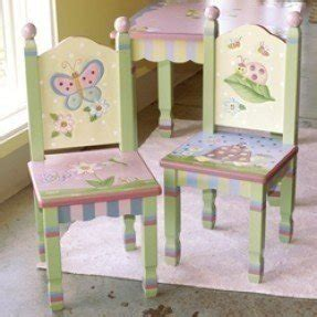 Hand Painted Childrens Table And Chairs