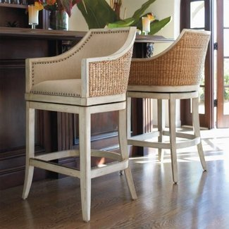 High back bar stools