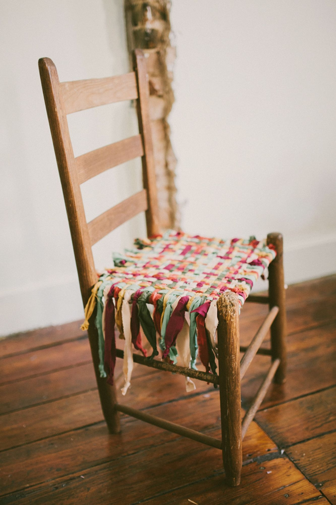 How To Weave A Chair Seat With Fabric