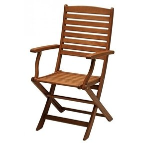 International caravan royal tahiti yellow balau wood folding arm chair