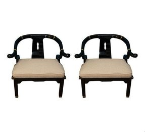James mont asian style arm chairs
