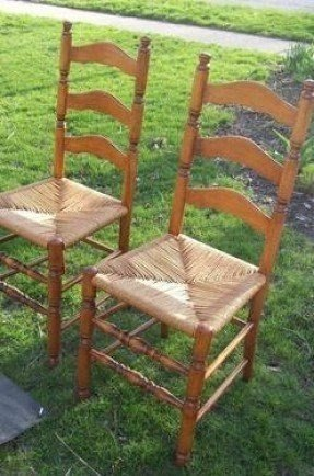 Ladder Back Chairs Rush Seats 1