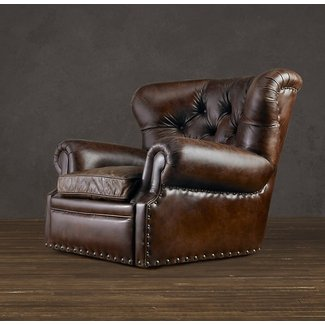 Leather cigar chair 1