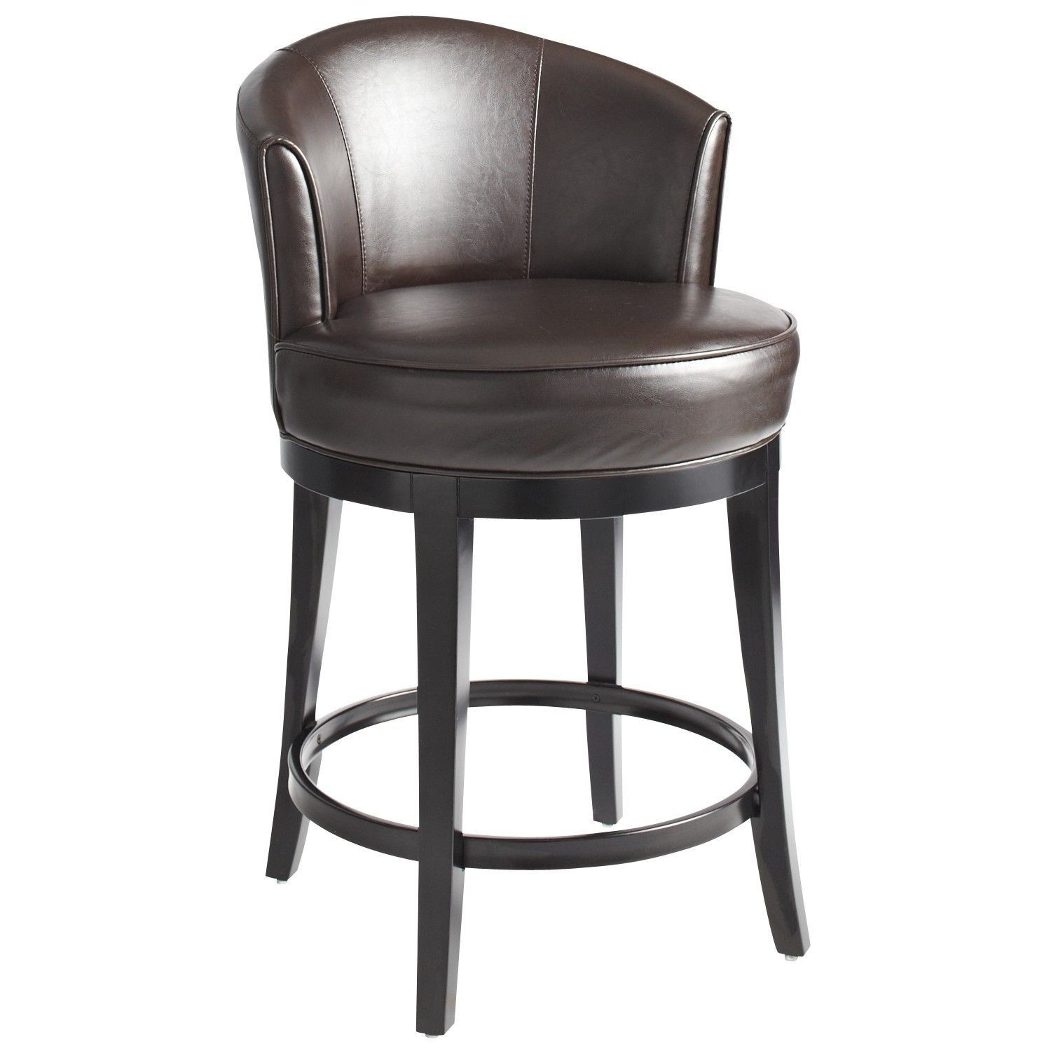 Leather Swivel Bar Stools With Back
