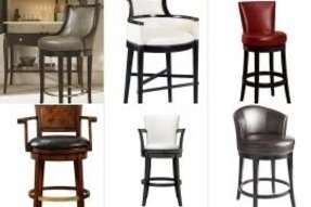 Unique Red Leather Bar Stools with Backs