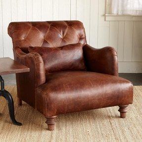 Leather wide arm chair 1