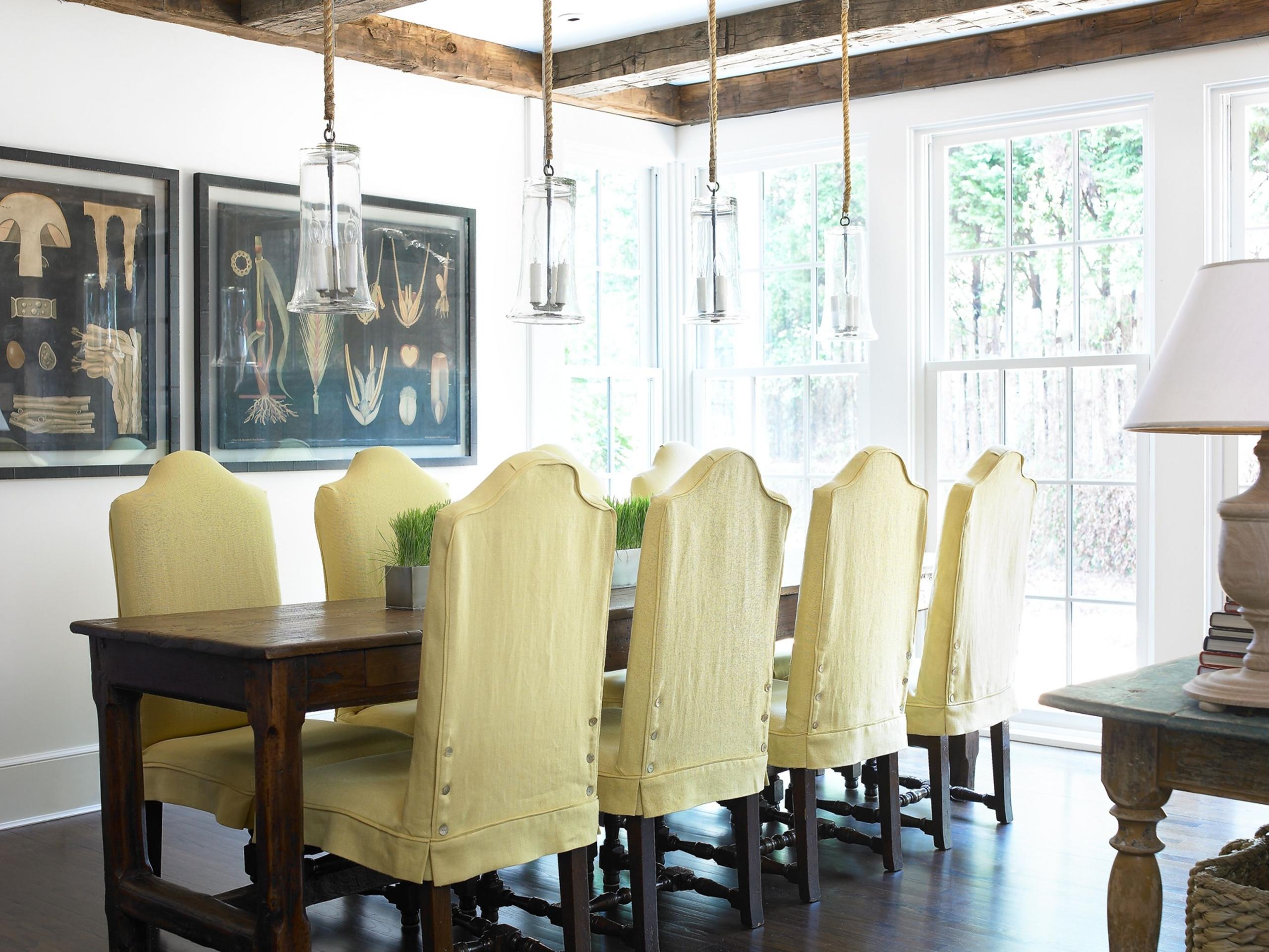 Linen Slipcover Dining Chair