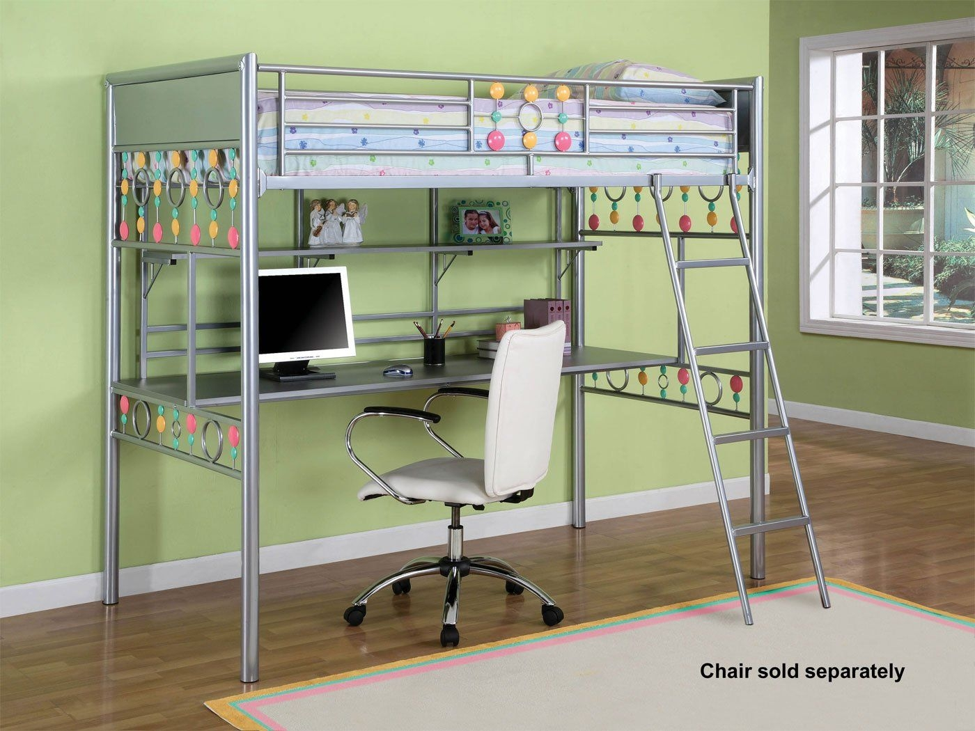 Metal bunk bed with desk & Metal Bunk Bed With Desk - Ideas on Foter