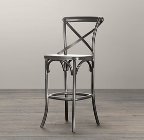 Metal madeleine stool bar counter stools restoration hardware kitchen stool