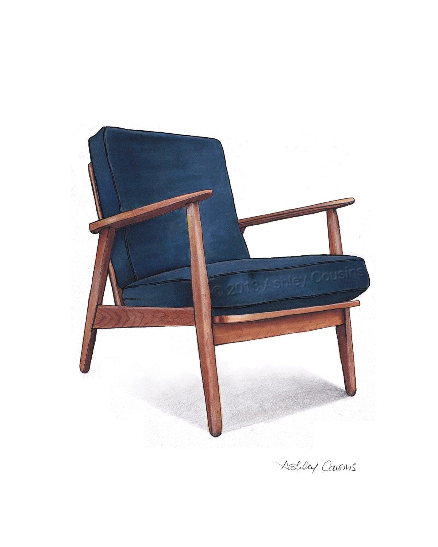Mid Century Modern Danish Teak Chair