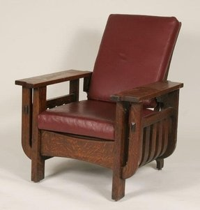 Mission oak living room chair 2