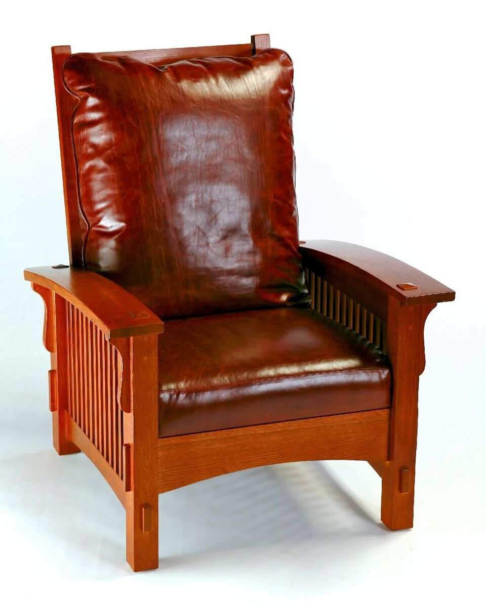 Exceptionnel Mission Style Chair And Ottoman