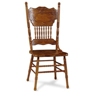 Oak double pressback chairs