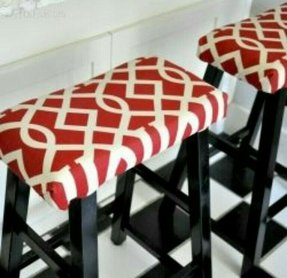 Ordinary stools from target transformed with some simple fabric