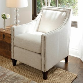 Outdoor upholstered arm chair