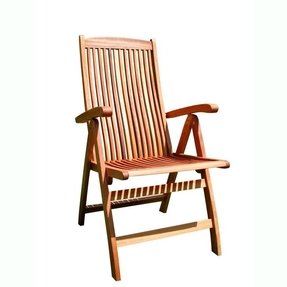 Outdoor wood folding arm chair 2