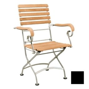 Outdoor wood folding arm chair 6