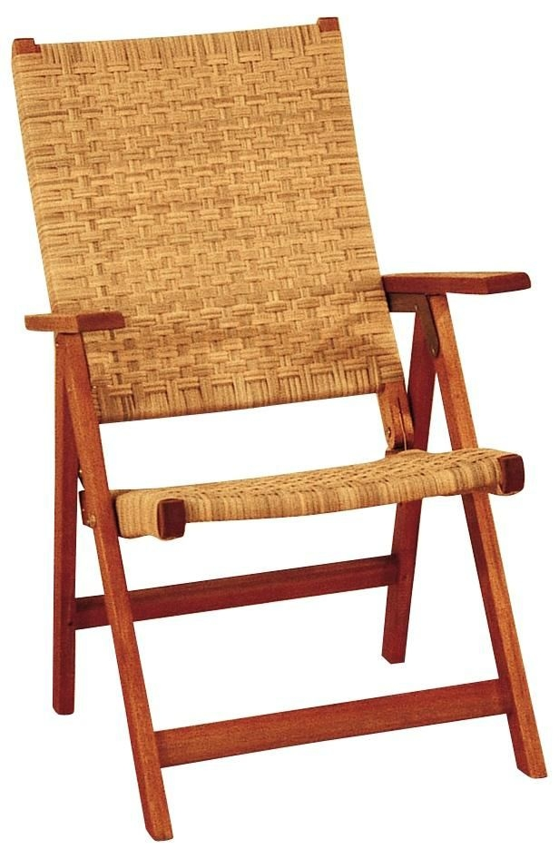 Outdoor Wood Folding Arm Chair