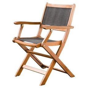 Outdoor wooden chair