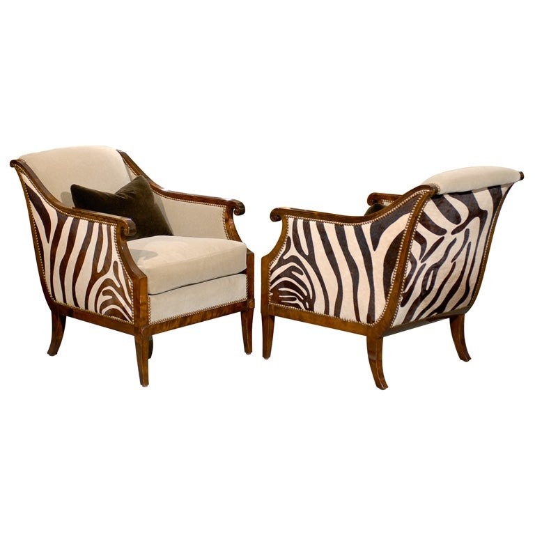 Pair of swedish empire revival arm chairs c 1920s
