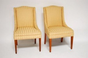 Bon Pair Of Vintage High Back Chairs 3