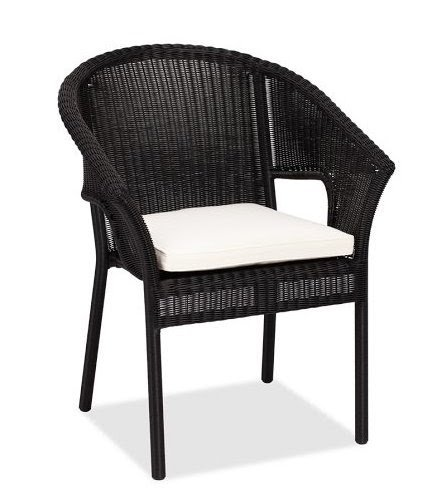 Pottery barn stackable wicker chair black