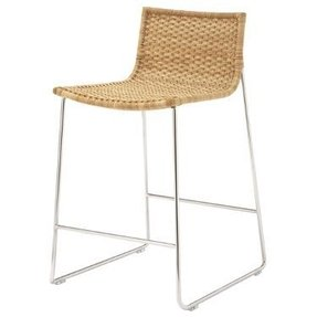Rattan Counter Stool Foter