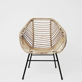 Rattan chippendale chairs