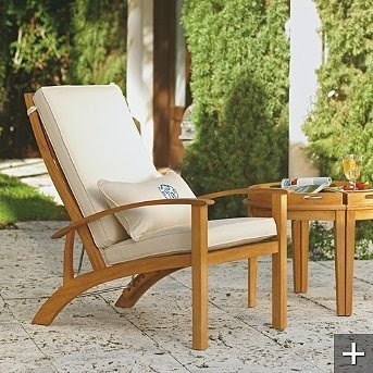 Ordinaire Reclining Teak Chair 11