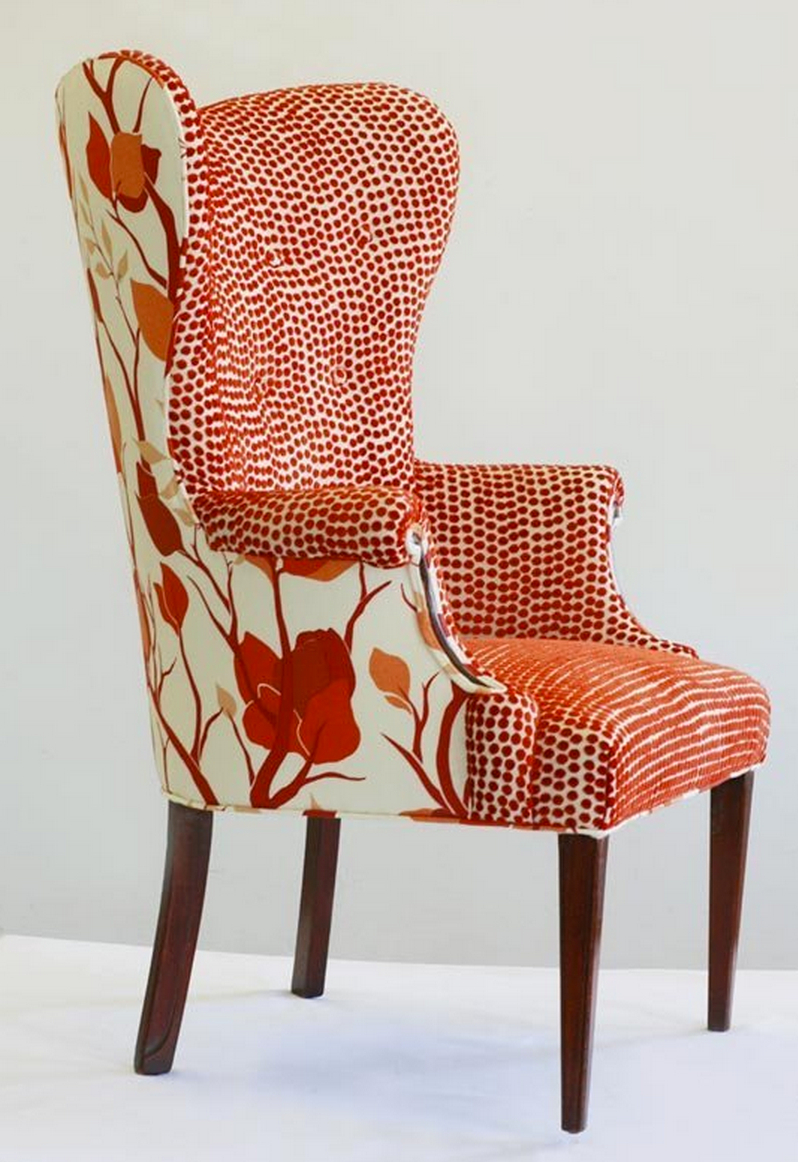 Superbe Red Wing Chair 1