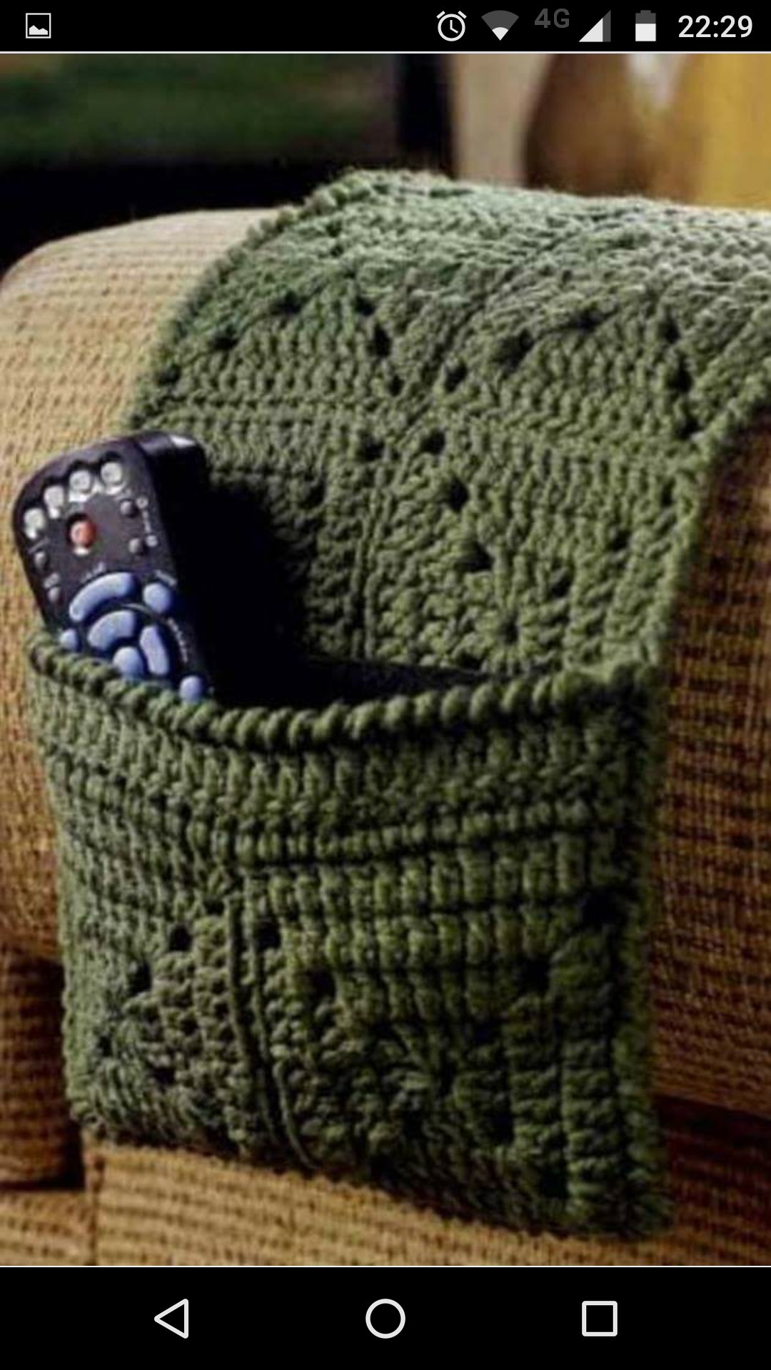 Remote holder coaster set tissue cover crochet pattern & Arm Chair Caddy - Foter
