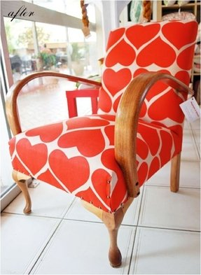 Reupholster arm chair 14