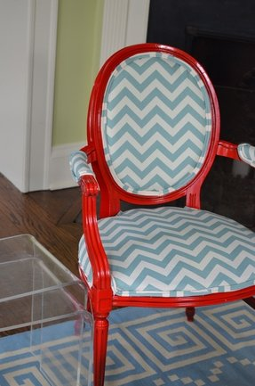 Reupholster arm chair 7
