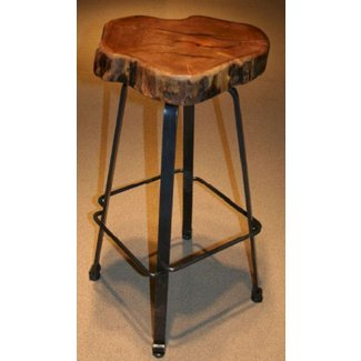 Rustic Log Bar Stools 1