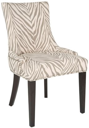 Safavieh lester grey zebra dining chairs set of 2