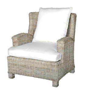 Safe harbor oasis rattan teak arm chair
