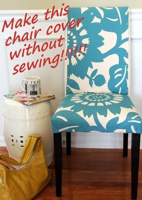 Slipcovered dining chair 1