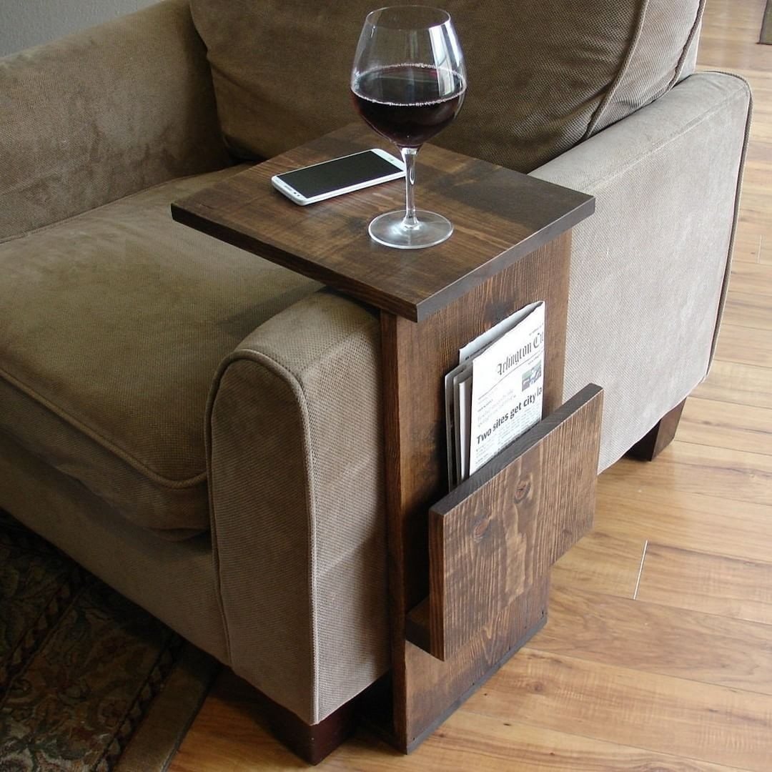 Sofa Chair Arm Rest Tv Tray Table Stand