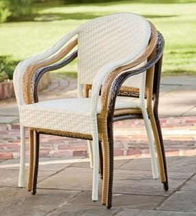 Stackable wicker chairs 2