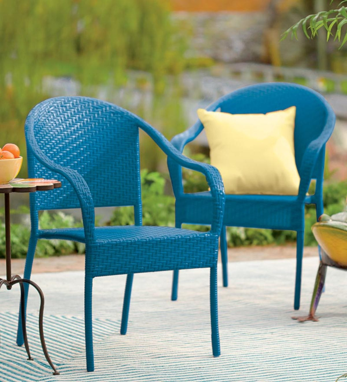 Stackable Wicker Chairs 8