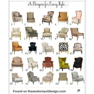 Style bergere chair