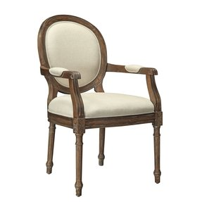 Upholstered Carved Wood Accent Chair Foter