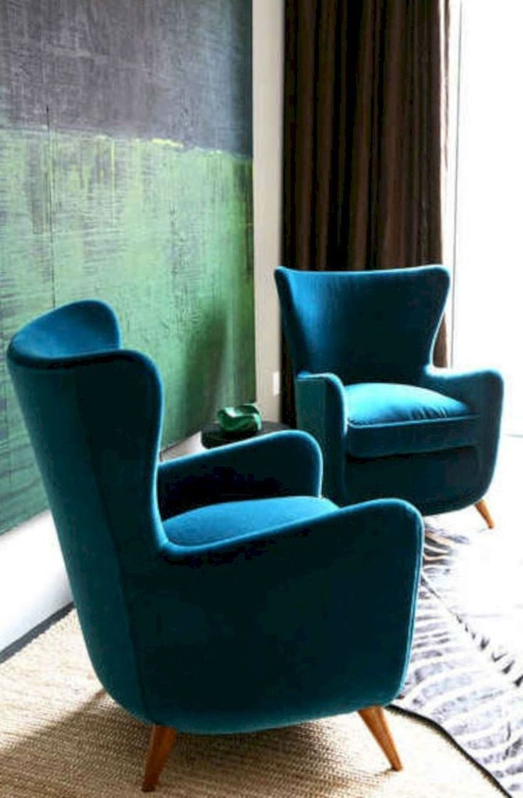 Bon Velvet Accent Chairs 1