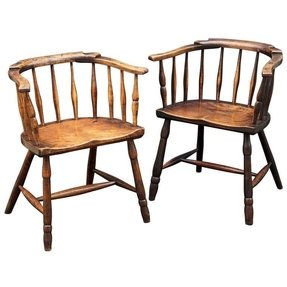 Vintage spindle back chairs