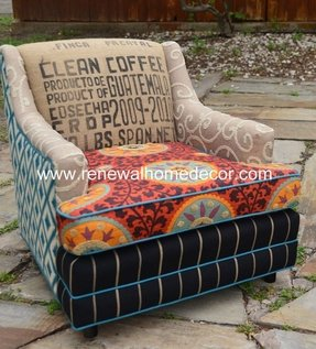 Vintage upholstered chair the fiesta