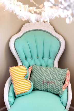 Vintage upholstered chairs 10