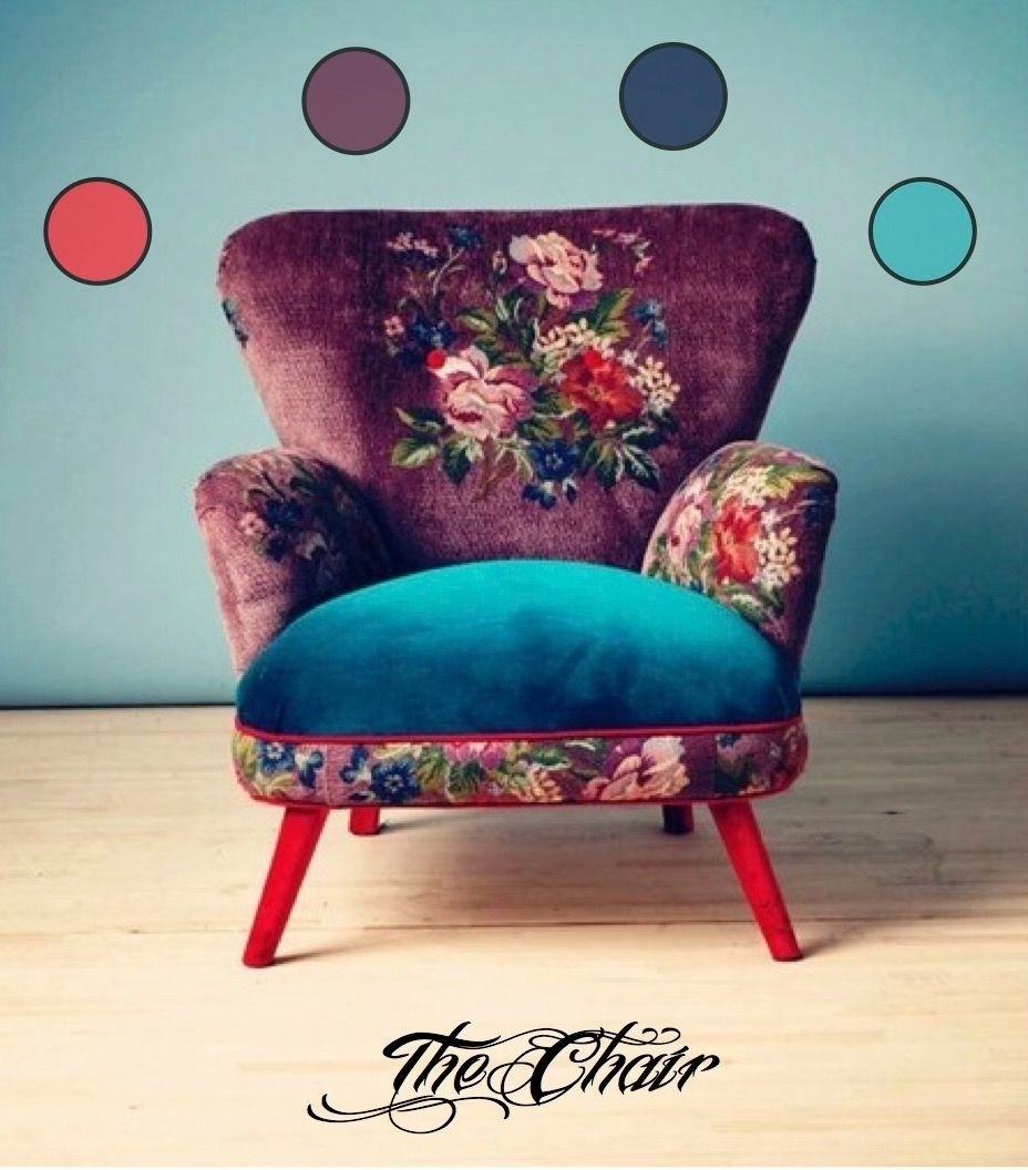 Vintage upholstered chairs 2
